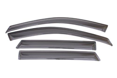 (Auto Ventshade 94534 Original Ventvisor Side Window Deflector Dark Smoke, 4-Piece Set for 2013-2018 Hyundai Santa Fe)