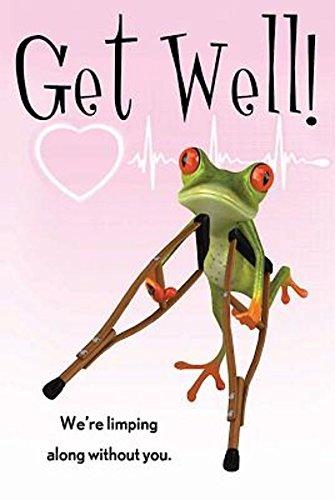 (Get Well! Frog Postcard (Pkg of 25))