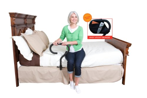 Stander BedCane - Adult Home Bed Safety Rail & Handle + Height Adjustable Elderly Standing Assist Aid & Pouch by Stander (Image #6)