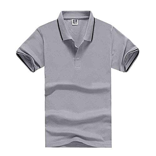 BOMOVO Herren Revers Baumwoll T-Shirt