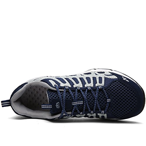 Lakerom Men's and Women's Breathable Meshing Shoes Outdoor Hiking Shoe Blue jn49lpCuq