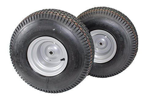(Set of 2) 20x8.00-8 Tires & Wheels 4 Ply for Lawn & Garden Mower Turf Tires ()