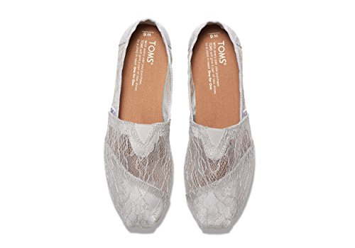 TOMS Womens Low Top Lightweight Casual Shoes Light Grey Lace o3FwJg