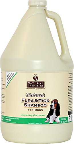Natural Chemistry ZT1100 91 Natural Flea and Tick Shampoo for Dogs, 1-Gallon