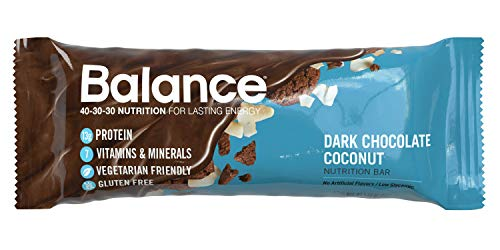 Balance Bar, Healthy Protein Snacks, Dark Chocolate Coconut, 1.58 oz, Pack of 6