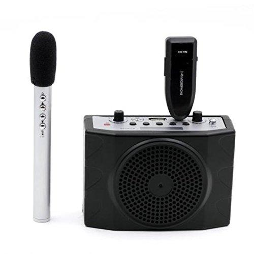 AL ポータブル 2.4G ワイヤレス メガホン マイク システム リモート コントロール FM ツアーガイド教師 会議 AL-AA-2177 B079M71JS8