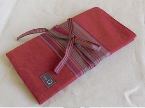 Della Q Stripe Interchangeable Needle Case 195-1 Double - Red ()