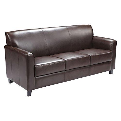 Offex Hercules Diplomat Series Leather Sofa, Brown