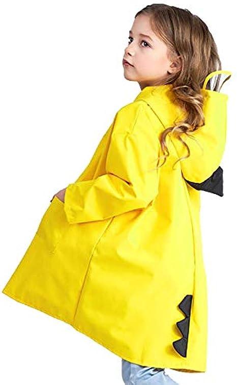 Cute Rain Poncho Travel Hooded Rain Jacket for Children Outfit Judyer Kids Raincoat