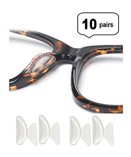 18f95fad4f3 AM Landen 10 Pairs 2.5mm Transparent Non-Slip Silicone Stick on Nose Pads  for Eyeglass Nose pad - Buy Online in Oman.