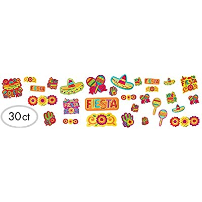 amscan Cinco De Mayo Fiesta Paper Cutouts Value Pack, 30 Ct. | Party Decoration: Toys & Games