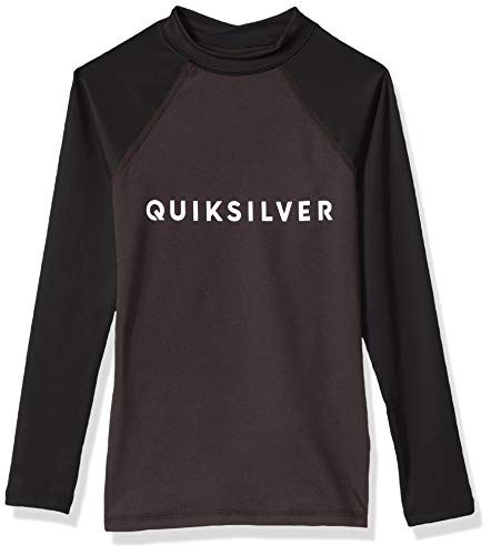Quiksilver Little Boys' Always There Long Sleeve Youth Rashguard UPF 50+, Tarmac, M/12