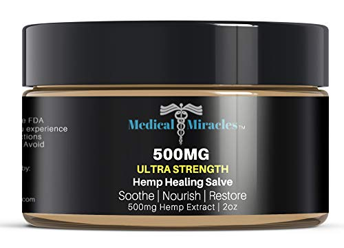 Inflammation Muscle Pain (Medical Miracles Hemp 500 Mg Ultra Healing Hemp Salve Balm, Relieves Inflammation, Muscle, Joint, Knee, Nerves, and Arthritis Pain. 100% Natural Ointment, Made in USA)