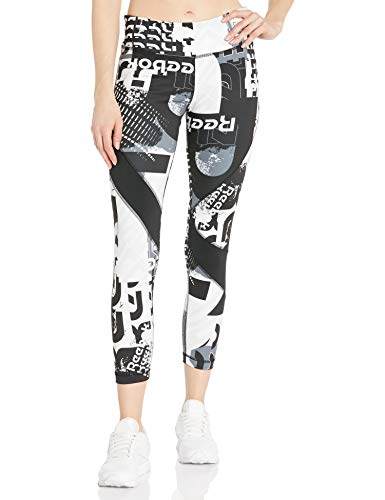 Reebok Workout Ready Meet You There 7/8 Tight, Black, X-Small