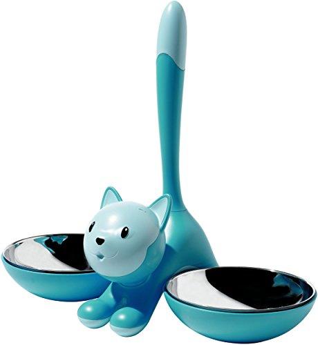 A di Alessi Tigrito Cat Bowl, Light Blue