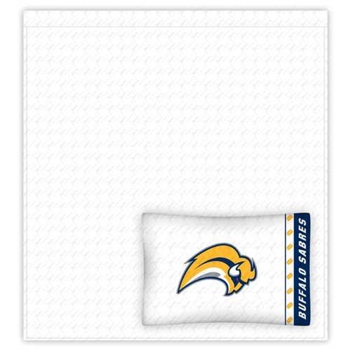 NHL Buffalo Sabres Micro Fiber Sheet Set (Twin)
