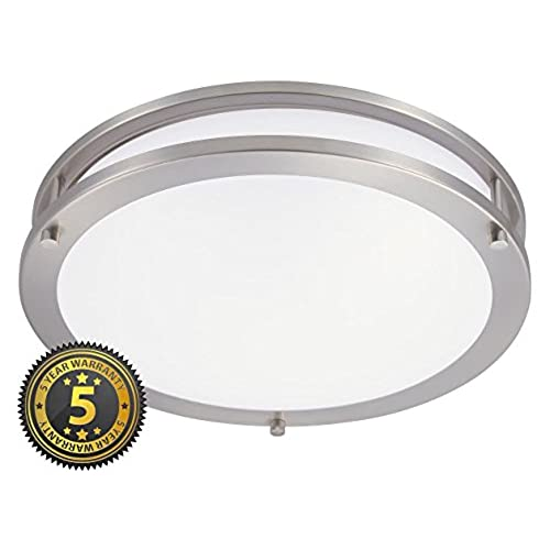 Bathroom Ceiling Light Fixtures In Brushed Nickel: Amazon.com
