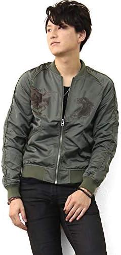 メンズ 刺繍 着こなし ジャンパー ジャケット ブルゾン 2020