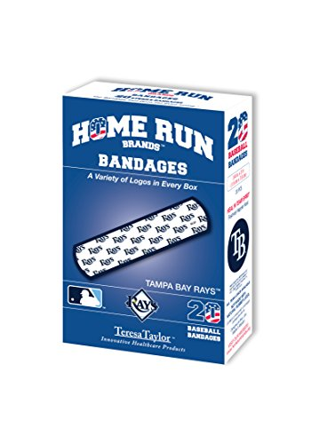 (MLB Tampa Bay Rays Bandages (6-Pack), One Size, White)