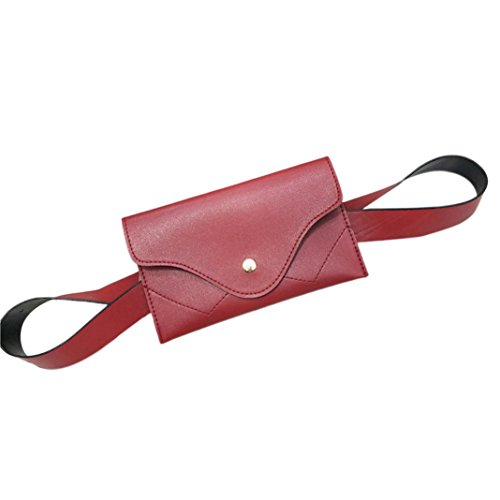 Pocciol Evening Handbags Envelope Women Wallet Splice Elegant Black Messenger Color Leather Pure Clutch Red rrAW0B1q