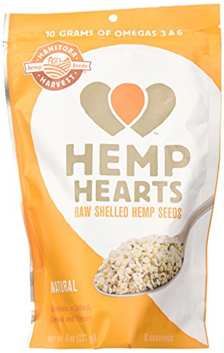 Manitoba Harvest Hemp Hearts Raw Shelled Hemp Seeds, 8 Ounce (Pack of 2)