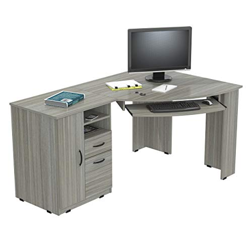 - Inval ET-4415 Corner Workcenter, Smoke Oak