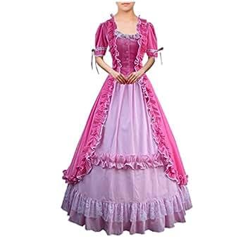 Amazon.com: Partiss Women Lace Ruffles Gothic Victorian