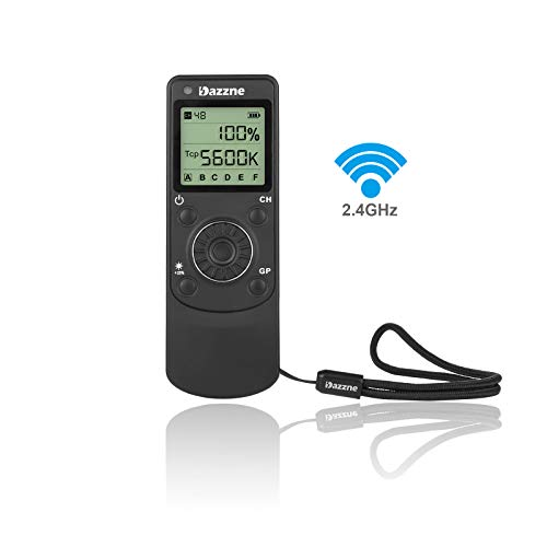[Upgrade] Wireless Remote Control FSK2.4GHz Brightness Color Temperature Adjust 48CH 6Groups for Dazzne D80 D50 D45C LED Video Light