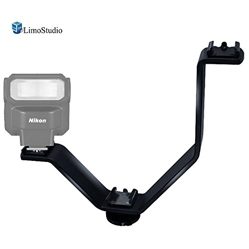 LimoStudio Triple Mount Cold Shoe V Mounting Bracket for Video Lights, Microphone, Monitor, Camera Accessories, Photo Studio, AGG2309