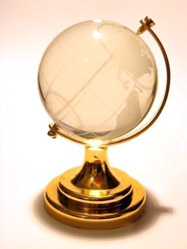 2.5 New Crystal Glass Miniature World Globe Ornament / Gift by HomeOffice ()