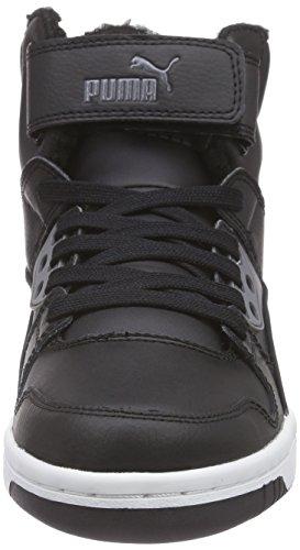 Puma Erwachsene 02 Gray Street Black steel Schwarz Rebound Puma Sneakers Hohe Unisex Fur 1rXarwq