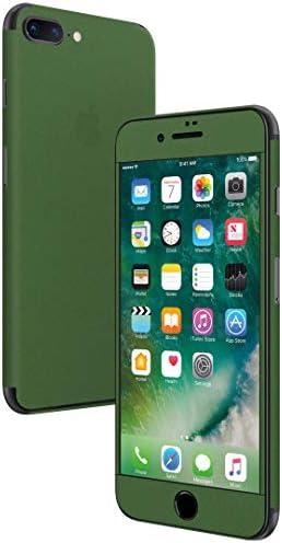 igsticker iPhone SE 2020 iPhone8 iPhone7 専用 スキンシール 全面スキンシール フル 背面 側面 正面 液晶 ステッカー 保護シール 009013 その他 シンプル 無地 緑