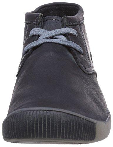Softinos Indira washed leather - zapatos con cordones de cuero mujer azul - Blau (navy 519)