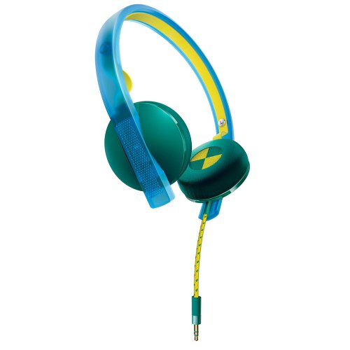 Philips O'Neill SHO4200BG The Bend On-Ear Headphones (Blue/Green) Detachable Headphones Flexible Headband by Philips