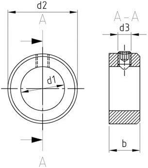 Kiefer24 Innen-/Ø = 14 mm - 10 St/ück Stellringe DIN 705 A2 mit Gewindestift DIN 914 A14 V2A Stellring Edelstahl