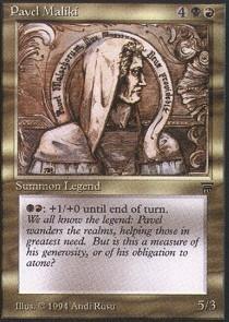 Magic: the Gathering - Pavel Maliki - Legends