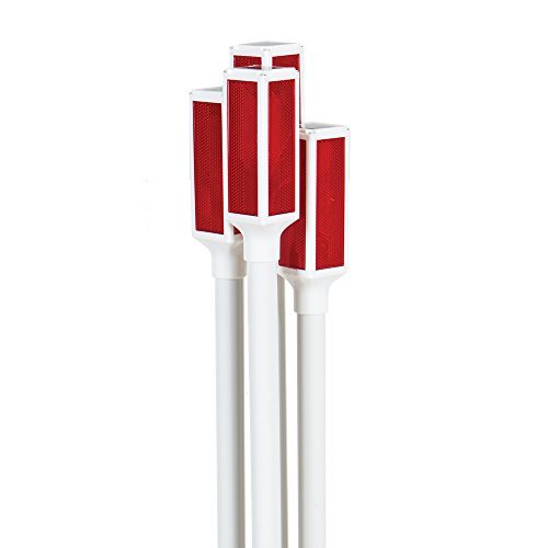Pack of 4 Solar Driveway Markers 42 Inch with Steady and Flashing Settings (Marker Driveway Lights)