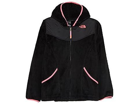 The North Face Girls' Oso Hoodie TNF Black Large - Hi Loft Fleece Jacket