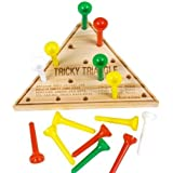 12 Wood Triangle Games Restaurant Puzzles