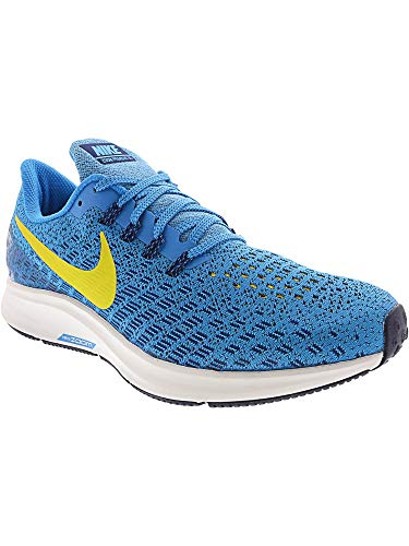Nike Men's Air Zoom Pegasus 35 Blue Orbit/Bright Citron Ankle-High Mesh Running Shoe - 6.5M by Nike (Image #4)