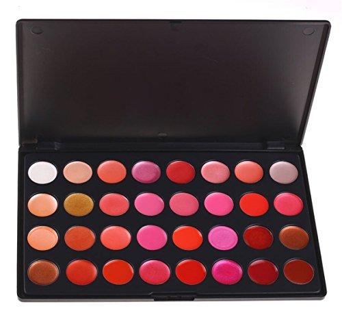 Pure Vie Pro 32 Colors Lip Gloss Makeup Palette Contouring K