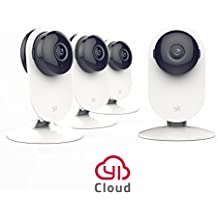 YI 4pc Home Camera, Wireless IP Security Surveillance System with Night Version for Home, Office, Shop, Baby, Pet Monitor - Cloud Service Available