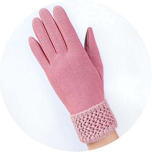 Winter Autumn New Gloves For Women Wrist Length Fashion Mittens Gloves Female Gloves Guantes,016C Pink