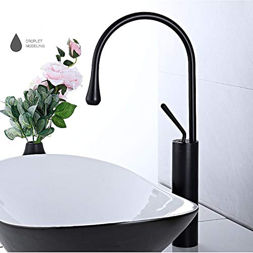 Modern basin faucet black silver basin mixer faucet kitchen bathroom faucet single lever faucet black basin mixer (Color : Black high)