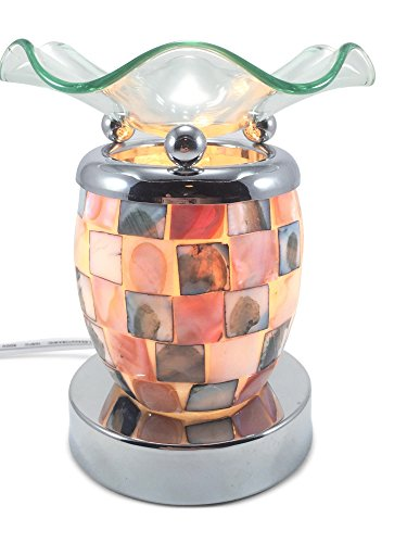 Mother of Pearl Mosaic, natural shell Electric Touch-controlled Fragrance Lamp with Free Replacement Halogen - Pearl Tart