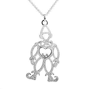 Chopard Happy Diamonds 18K White Gold Full Diamond Clown Pendant Necklace