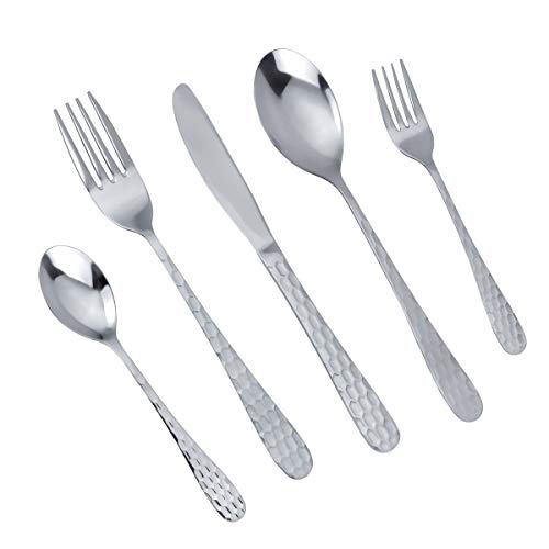 MDEALY 30-Piece Silverware Flatware Cutlery Set, Stainless Steel Kitchen Utensils Service for 6, Include Dinner Knives…