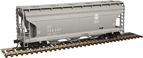 Atlas HO Scale ACF 3560 Center-Flow Covered Hopper Illinois Central/IC ()