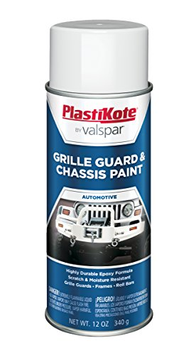 (PlastiKote 191 Gloss White Chassis and Grille Guard Paint, 12 oz.)