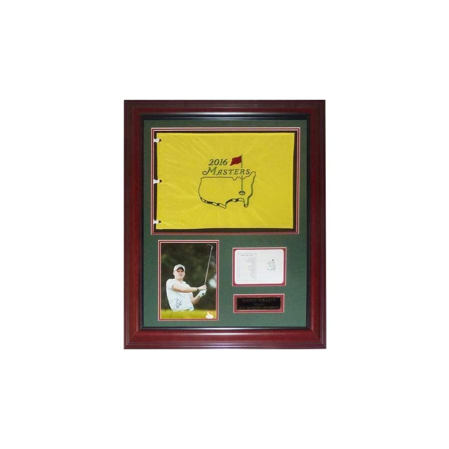 Danny Willett Autographed Signed Auto 2016 Masters Champion Deluxe Framed Flag Piece JSA Certified Authentic